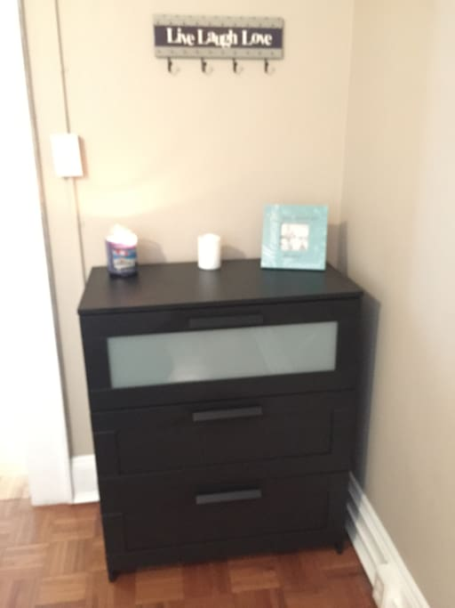 Dresser With plenty of space to unpack