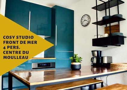 Cosy studio/front de mer/ 4 pers./centre Moulleau