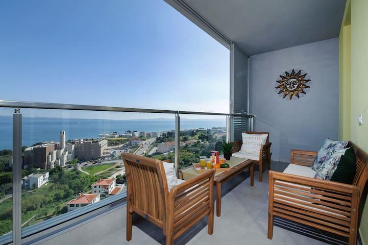 Sea view Tiho apartment,Poljicka cesta 28 A