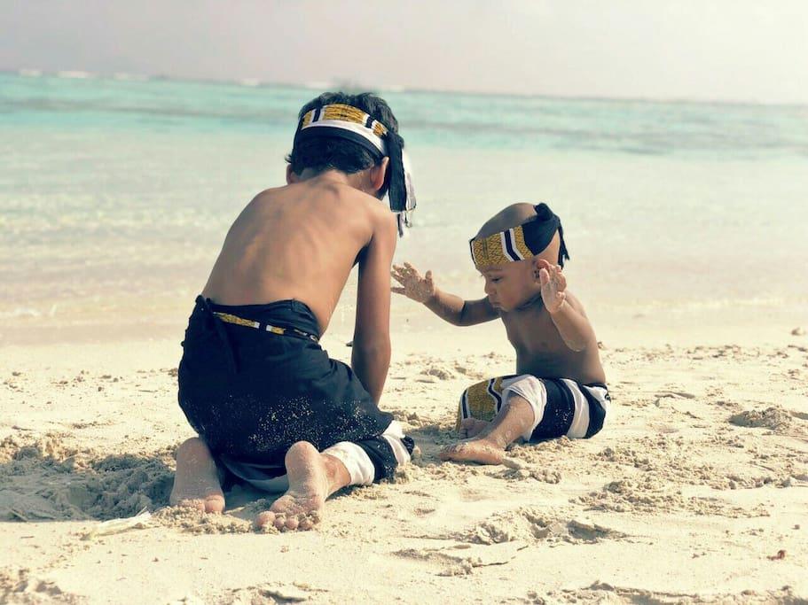Kids enjoying @ Beach