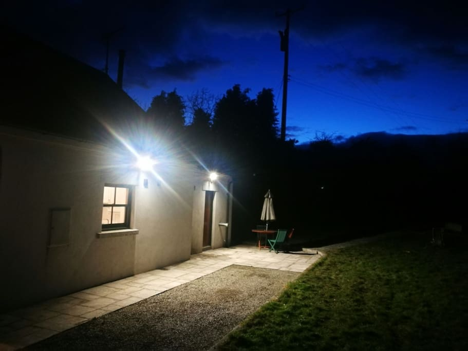 Bluebell Cottage at night