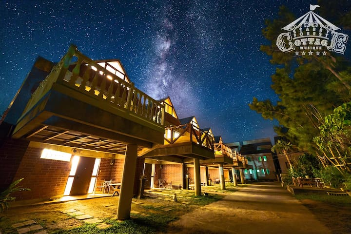 Starry Sky resort cottage for Cat Lovers !  C84㎡