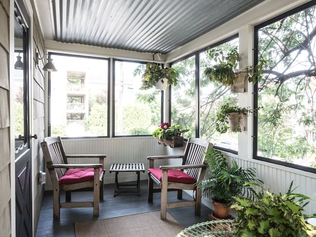 Wake up with a cup of coffee or unwind with a glass of wine on the porch!