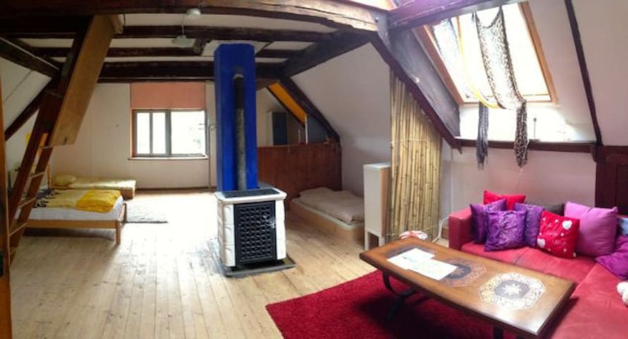 Loft with 5 beds