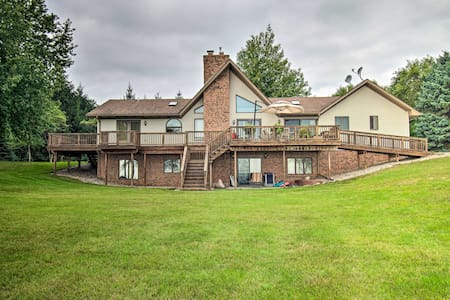 NEW! Large Family Home w/Deck & Yard on Lake Huron