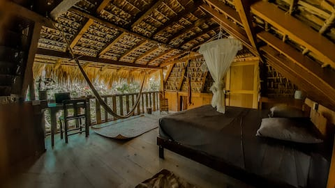 Palapa w two beds and private bathroom in Mazunte