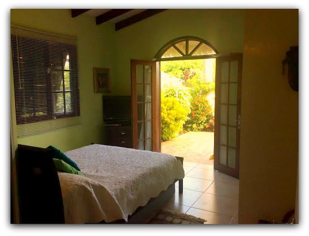 Tobago-Samaan Grove Private Bedroom-Green