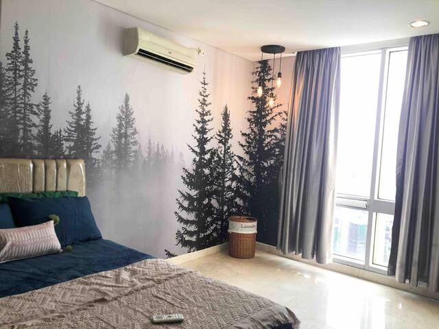 sleep well with foggy forest view