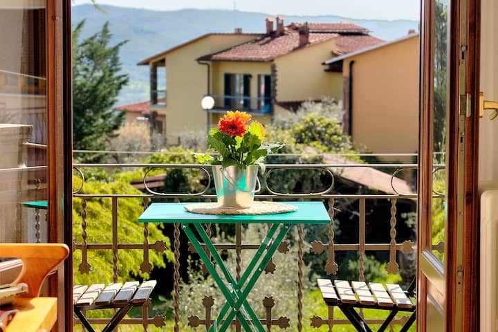 The Balcony at the Yellow House of Chianti