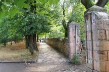 Он находится на улице Лермонтова по соседству с музеем великого поэта