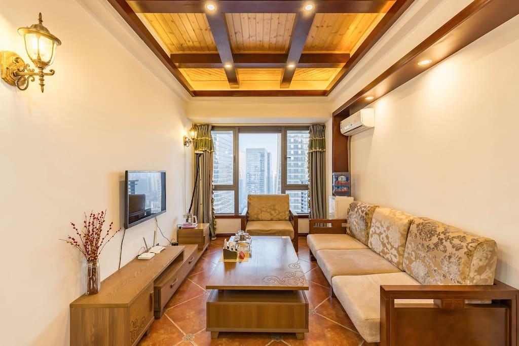 温暖的客厅,给您一个想要的家。