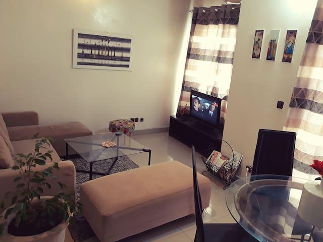 Cosy  appartment  chambre+salon+sdb+balcon