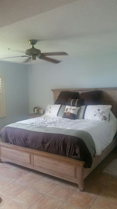 Your Master suite King Bed