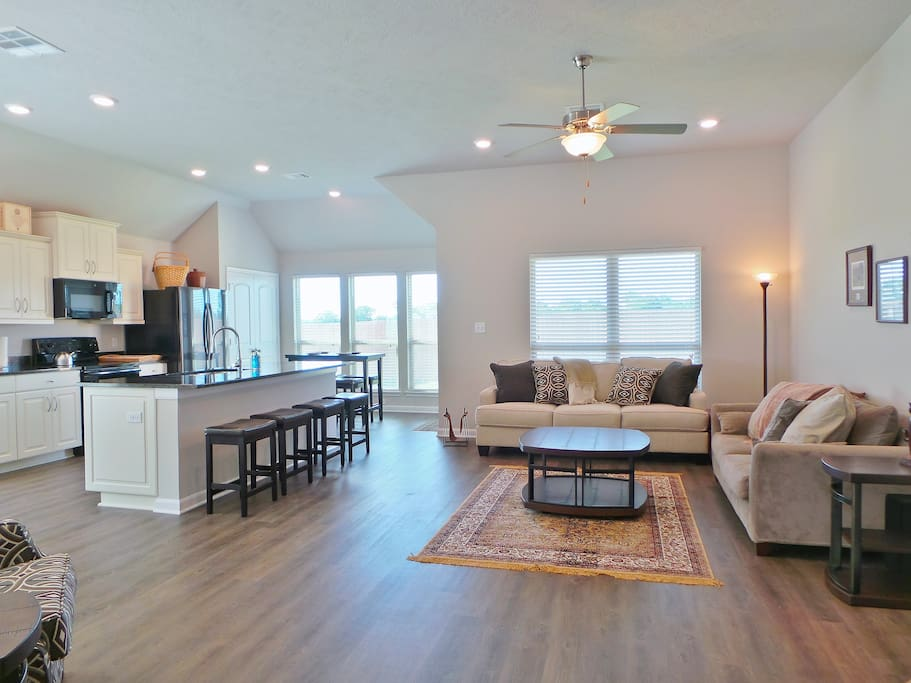 Large, open floor plan all throughout the home.
