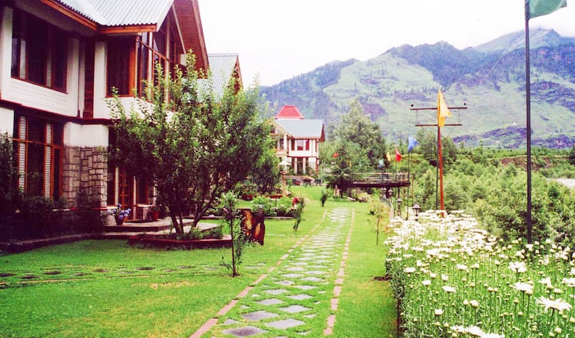 Entire 4 Bedrooms cottage on river bank - Manali - Apartment