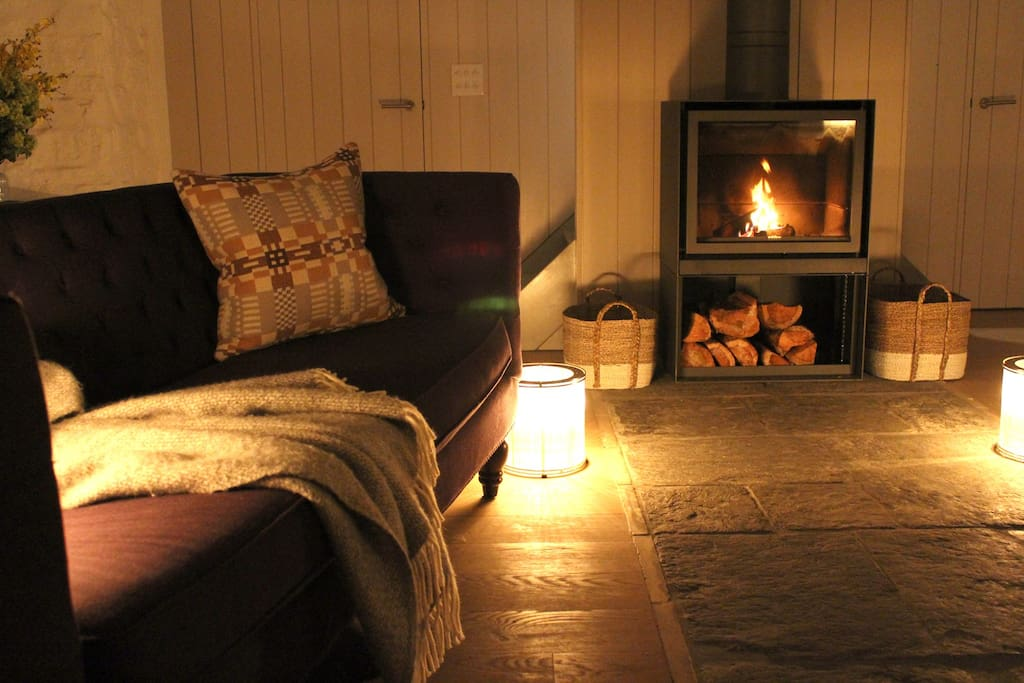 Living space at night