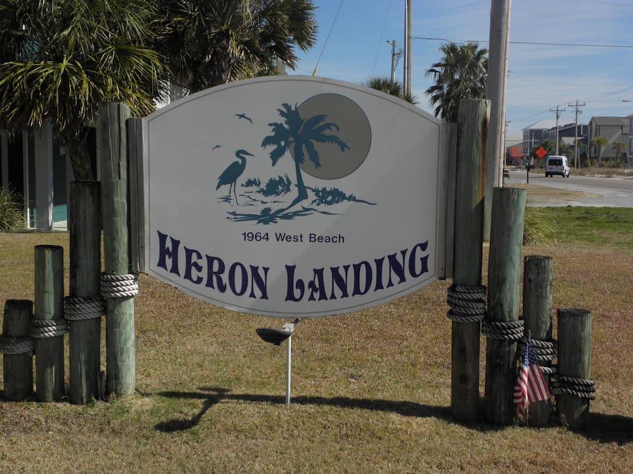 Entrance to Heron Landing