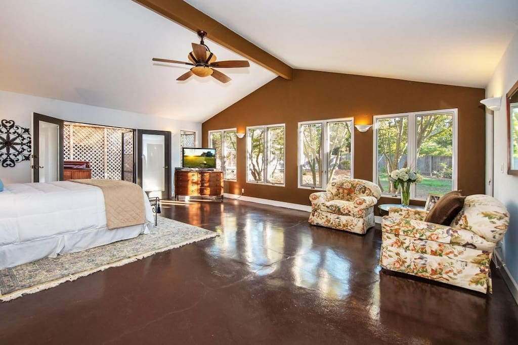 Spacious Master Bedroom with lots of natural light.