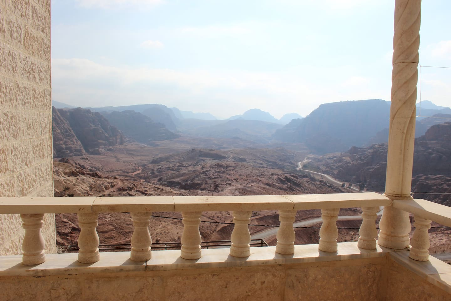 View over Petra from our balcony