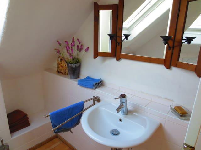 kleines Badezimmer mit Wachbecken/WC...