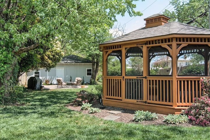 Relax in the backyard or screened in gazebo
