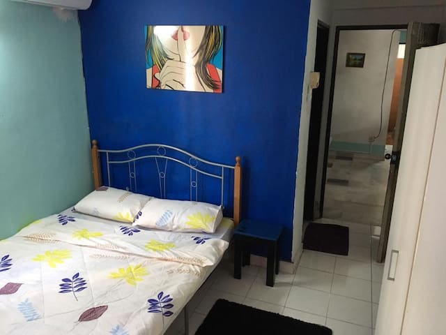 Master bedroom where silence is golden.