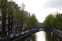 The famous Amsterdam canals