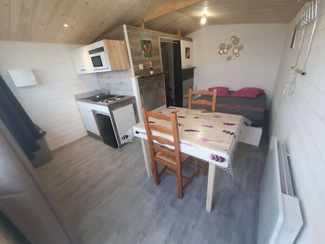 Studio chalet 1 de 17m2 3kms lac et 15 min Dijon