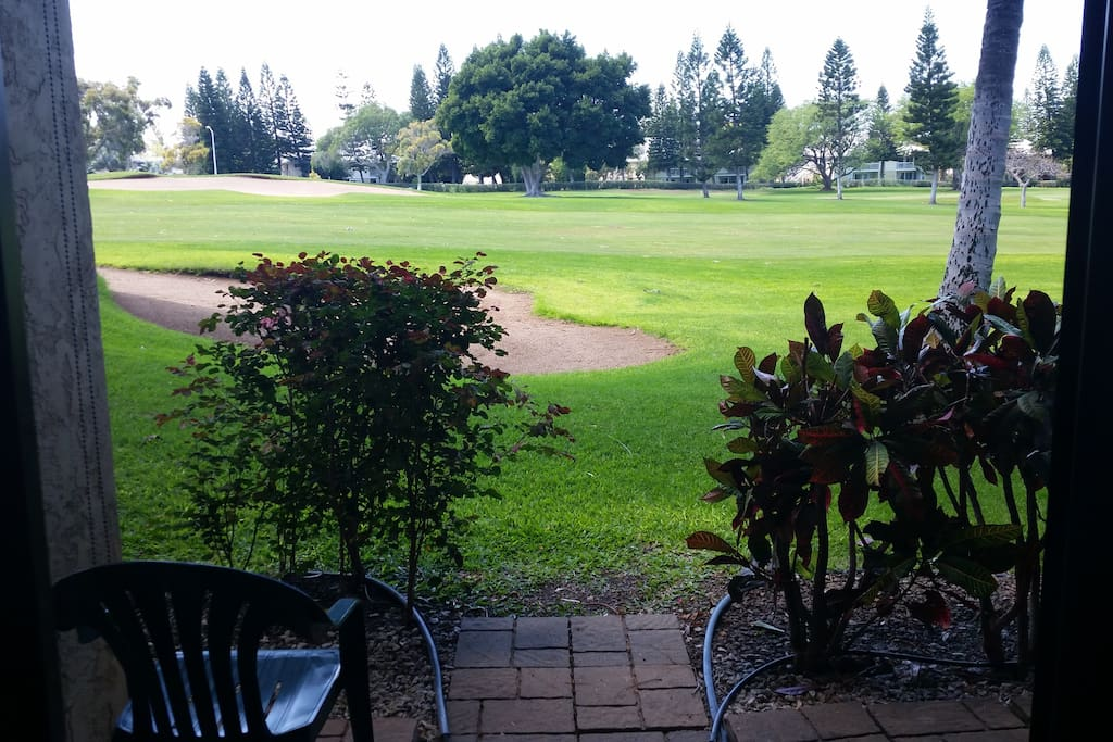 View from the lanai of the Robert Trent Jones Golf Course--you get a discount on your golf!