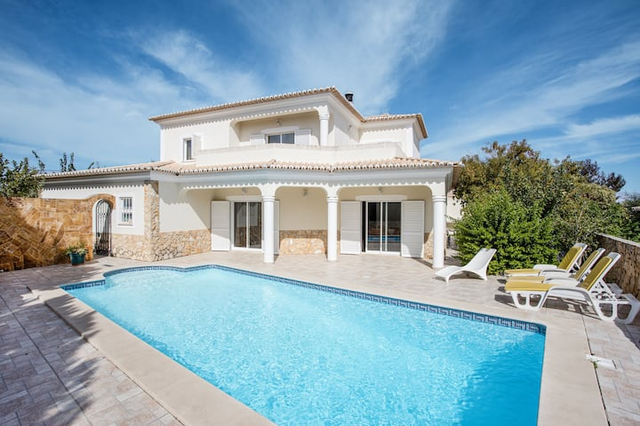 "Spacious Holiday Home ""Casa das Romanzeiras"" with Pool, Garden, Terraces & WiFi; Parking Available"