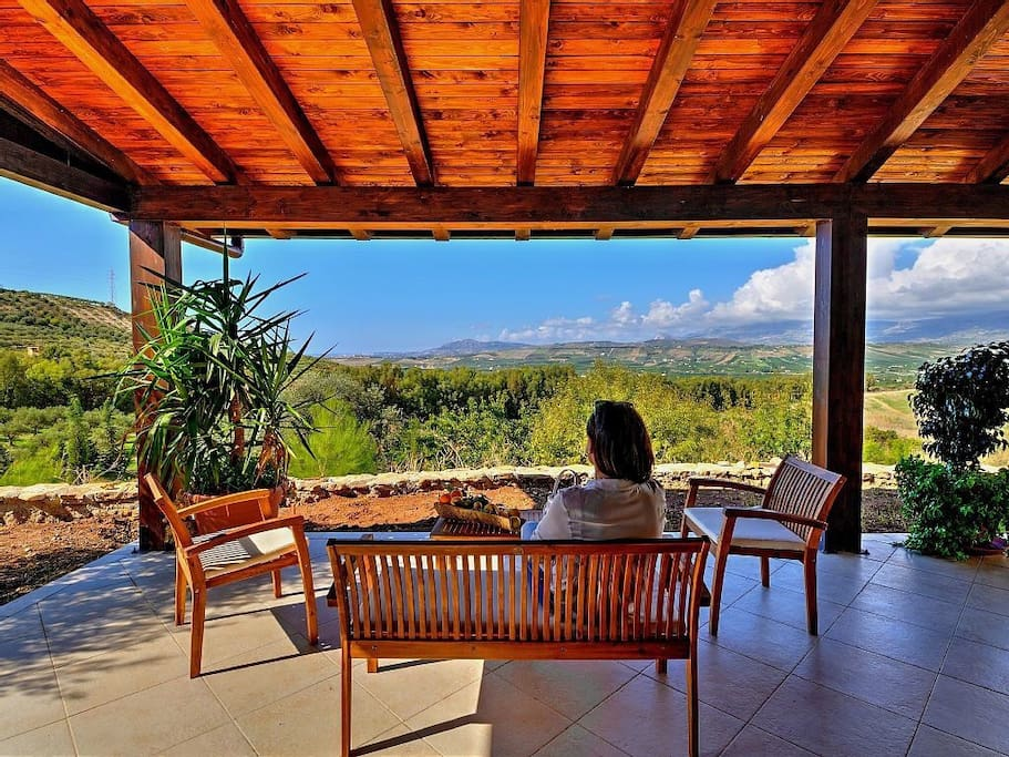 Patio with view