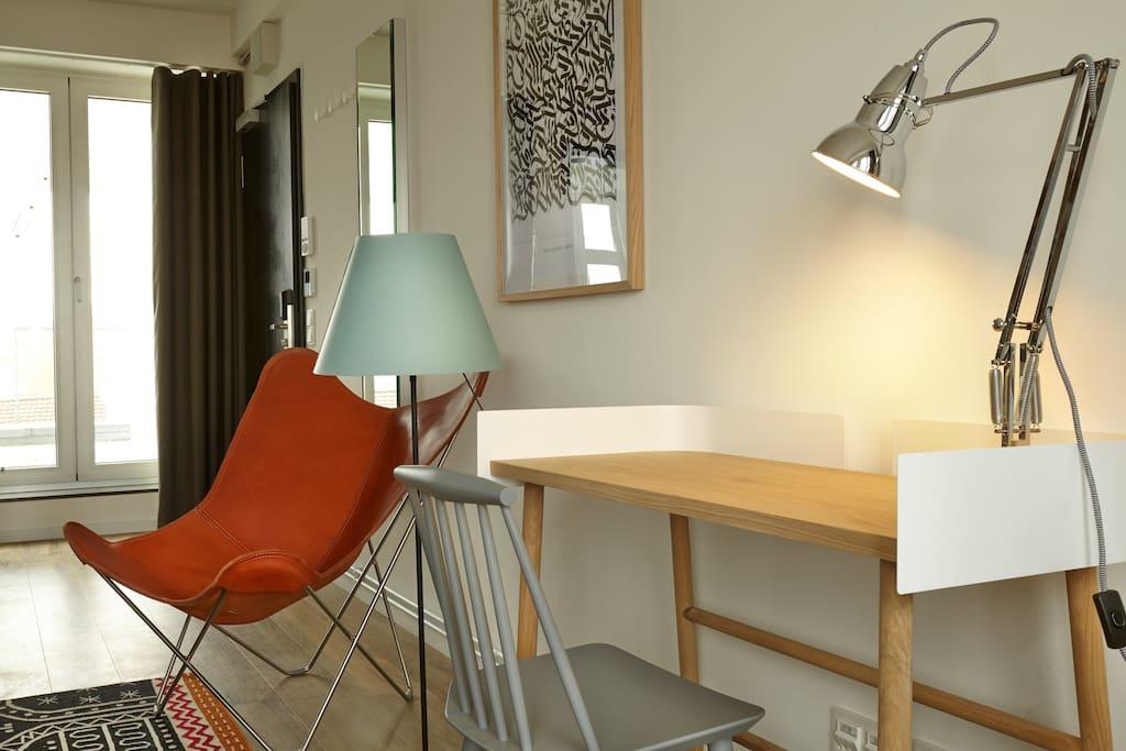 Gratis WLAN im  Apartment und Schreibtisch