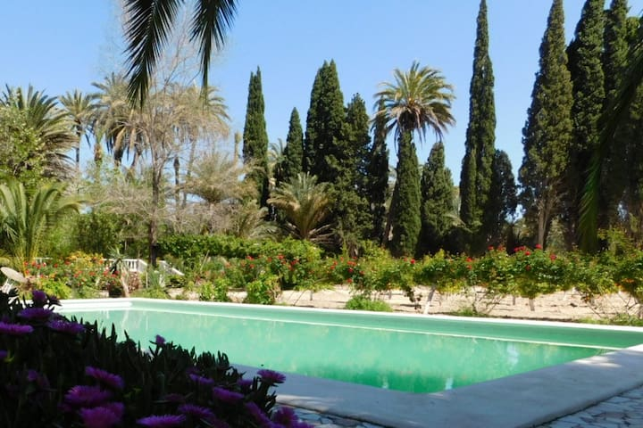 The private pool is a 2-minute walk from the property.