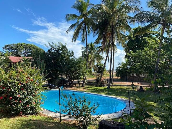 Villa bord de mer avec piscine