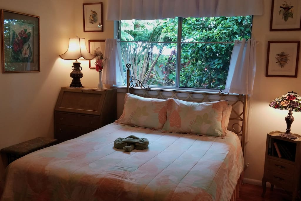 A nostalgic touch is part of the ambiance of the room that features a queen sized bed and furnishings from around 1900 that have been fully restored.