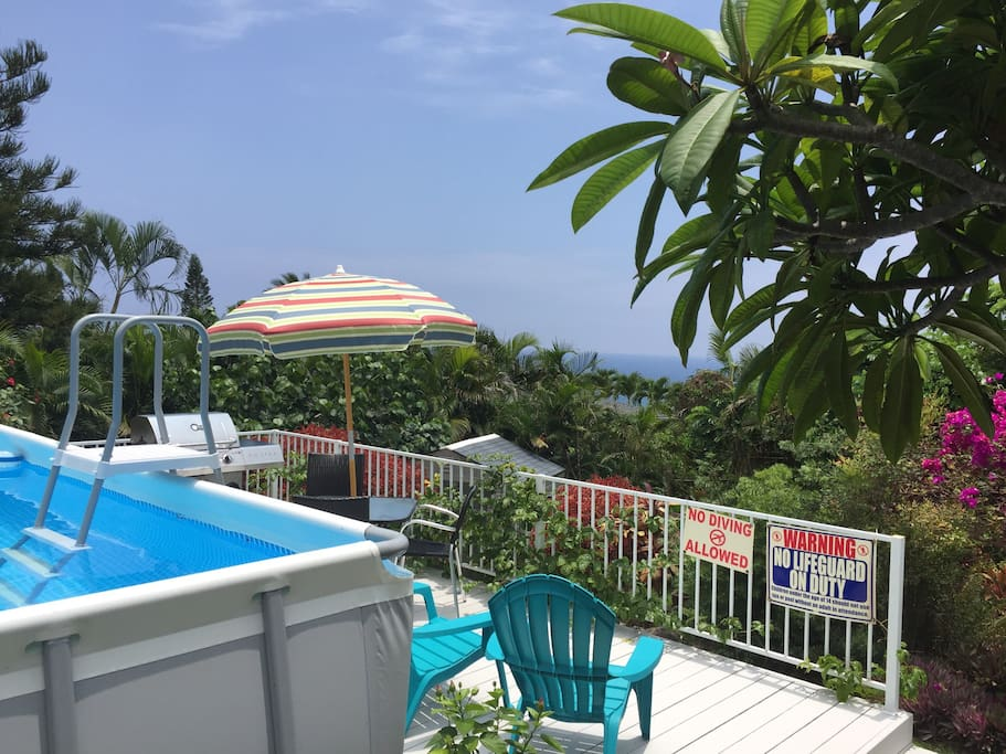 Enjoy the pool, grill your dinner, or just chill on the ocean view deck.