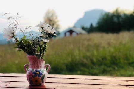 Idyllisk hytte i naturskjønne omgivelser!