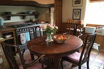 Come to main home kitchen to enjoy a cooked breakfast, or cook and enjoy dinner on your own.