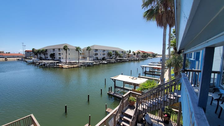 On canal at  North padre