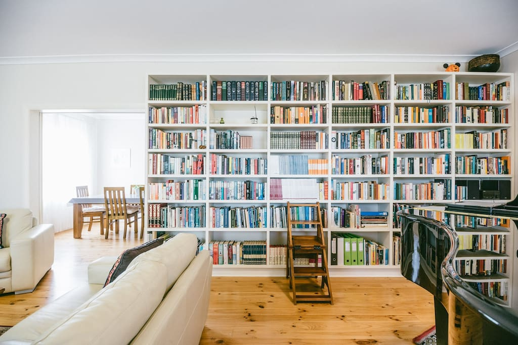 Spread out in the very large lounge room, borrow a book and settle in...