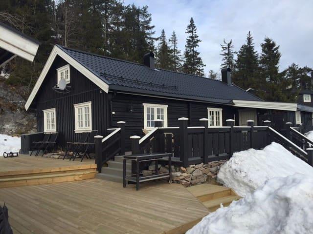 Stor hytte, 400 m fra alpinanlegg på Lifjell. - Bø - Kabin