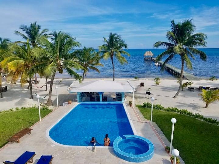 A5: Beachfront condo-balconies, reef view, pool!
