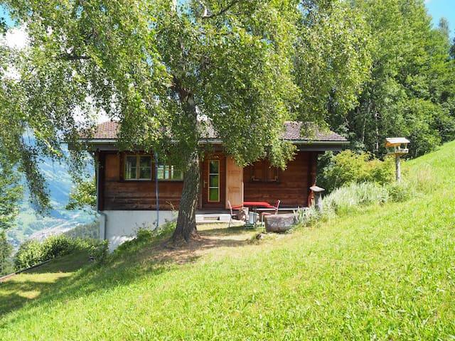 Freistehendes Holzhaus oberhalb Fideris - Fideris - Chatka