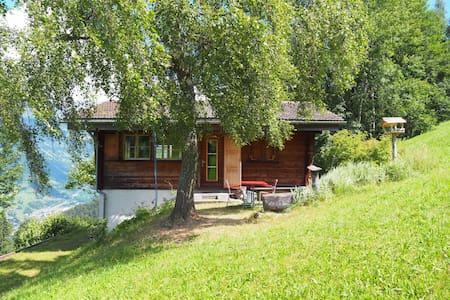 Freistehendes Holzhaus oberhalb Fideris - Fideris - Skjul