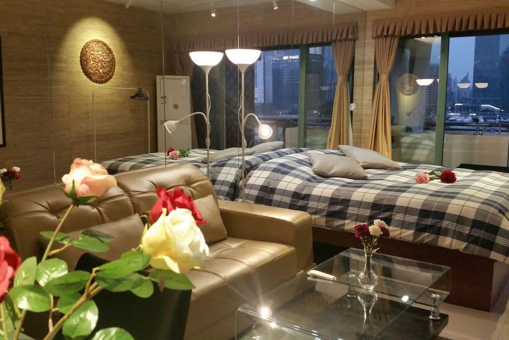 酒店式套房,1米8大床,超舒适床品