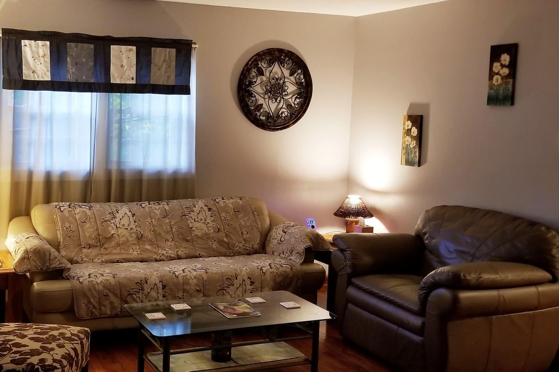 Livingroom with big comfy chair