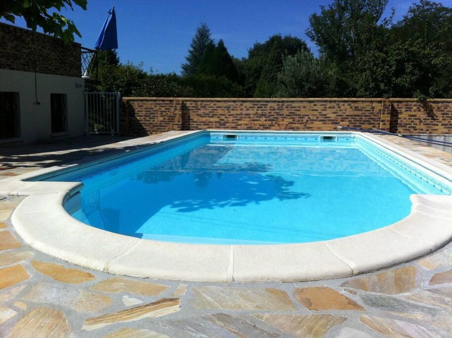 Accès à la piscine des propriétaires sur place