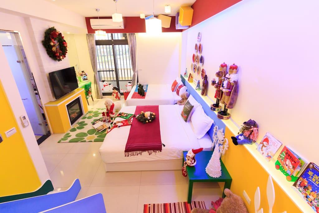 聖誕屋四人房