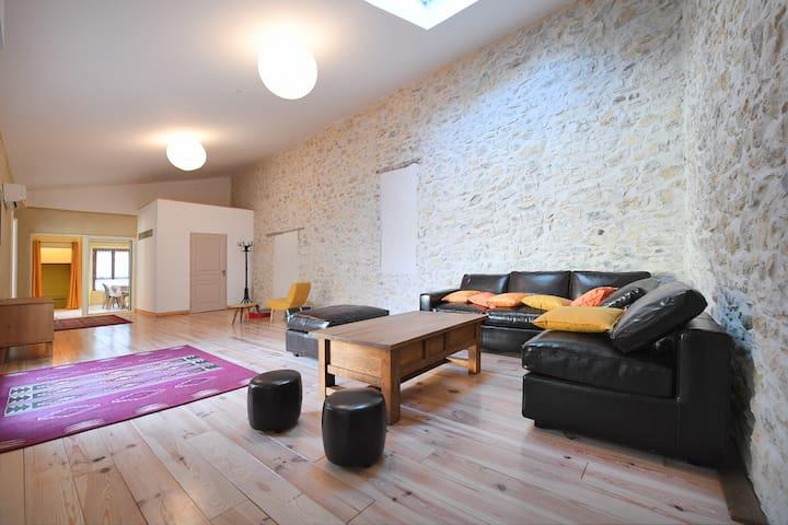"""La """"Casalinda"""":Appartement de charme à la campagne - Tornac - Byt"""