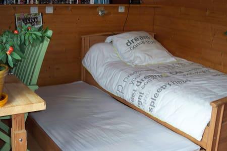 Chambre bois lit gigogne - Les Villards-sur-Thônes - Bed & Breakfast